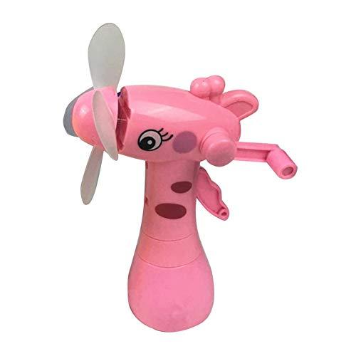 RIsxffp Mano Ventilador Dibujos Animados Mini Jirafa Ventilador 4 Cuchillas Rociador de Agua al Aire Libre para Verano Random Color