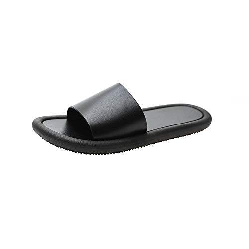quming Antideslizante Zapatos BañO Sandalias De Verano,Zapatillas de baño de Verano Antideslizantes, Sandalias Simples y Suaves para Uso Exterior-Black_40 / 41