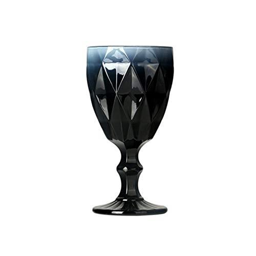 BENGKUI WUWENJIE Copa de Cristal de Copa de Vidrio de Vino de Colorido de Estilo Europeo de Cristal de Cristal Vintage Creativo Vidrio Vidrio de Cristal (Capacity : 301 400ml, Color : 310ml 4)