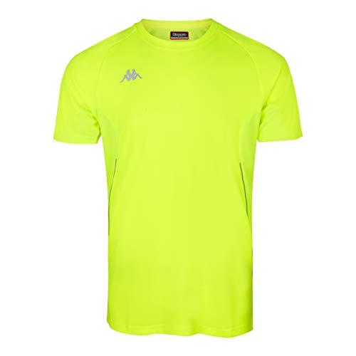 Kappa Fanio Camiseta técnica, Hombre, Amarillo Fluor, 3XL