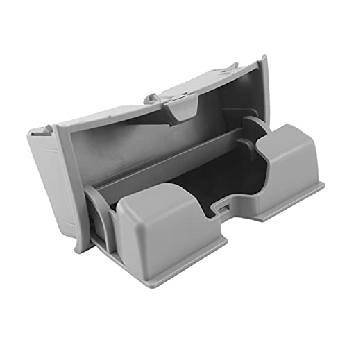 Hermoso Caja de sol gafas de sol Caja de las gafas de ojos Caja de la caja Organizador de clip de la jaula Caja de almacenamiento de plástico para BMW X5 X6 F15 F16 2014-2017 gris (Color : GRAY)