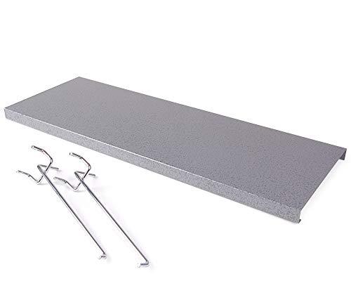 Ondis24 Einlegeboden inklusive 2 Haken Set für Werkzeugschränke Metall grau