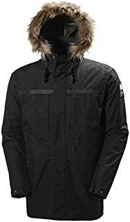 Helly Hansen COASTAL 2 Parka - Parkaacolchadaimpermeable para hombre, color negro, talla XL