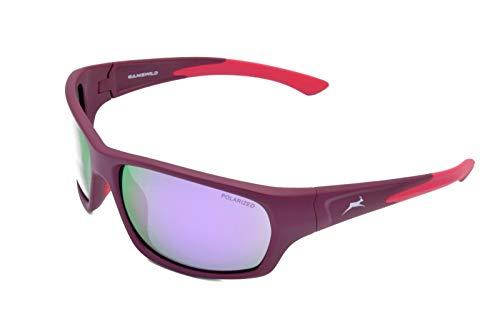 Gamswild WS4632 Gafas de sol deportivas, de esquí, para bicicleta y hombre, unisex, color azul, negro, burdeos y morado, Berry Mirror, M