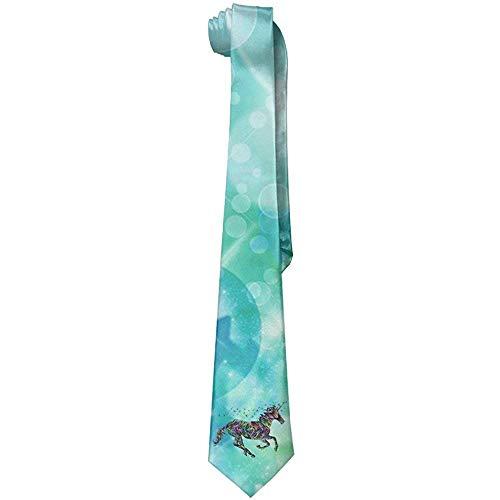 Corbatas de silueta de unicornio mágico prismático de los hombres Corbatas delgadas de la novedad Regalo