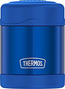 THERMOS FUNTAINER 10 Ounce Stainless Steel Vacuum Insulated Kids Food Jar Blue