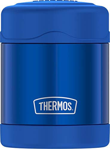 THERMOS FUNTAINER F3100 Stainless Steel Food Jar 10 Ounce, Blue