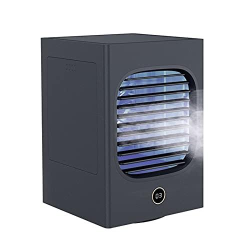 HJUIK Ventilador Refrigerado por Agua Escritorio Portátil Ventilador Pulverización Mini Ventilador Enfriamiento Ventilador Aire Acondicionado Doméstico (Color : Black)