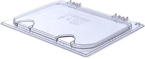 Carlisle 10239Z07 EZ Access Hinged Lid with Handle and Notch, Half Size, Clear