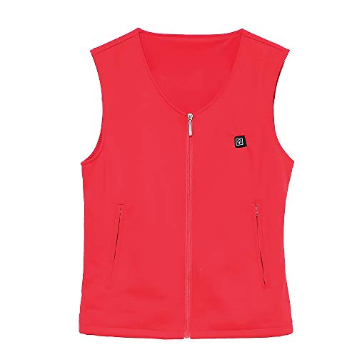 Gebreid thermo-elektrisch vest van puur katoen intelligente USB-V-kraag voor mannen en vrouwen elektrische kleding zwart M