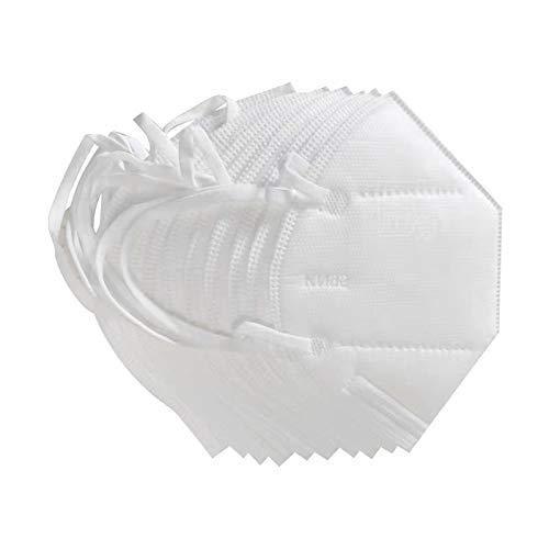 Sinicyder Maschere Antipolvere KN95 da 10 Pezzi, Maschere Antipolvere Standard PM2.5, Maschera Protettiva, Maschere protettive Antipolvere di Dimensione Universale per Uomo Donna
