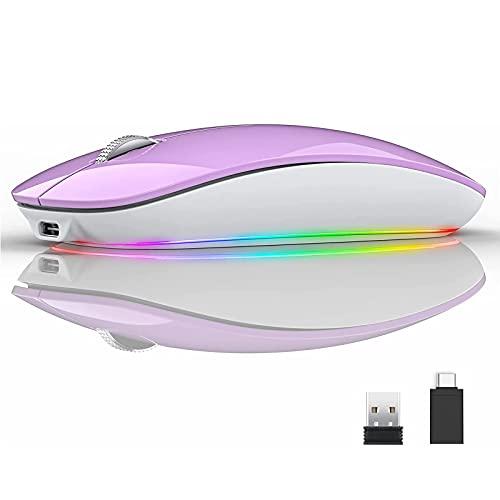 Uiosmuph U15 RGB Maus Kabellose, 2.4Ghz...