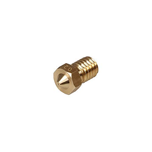 4pcs/lot 3D Printer Parts High Precision Brass Nozzle 0.2/0.3/0.4/0.5mm Suitable for 1.75mm Reprap Prusa i3 Makerbot 3D Printing Accessories (Size : 0.5mm 4pcs) (Size : 0.3mm 4pcs)