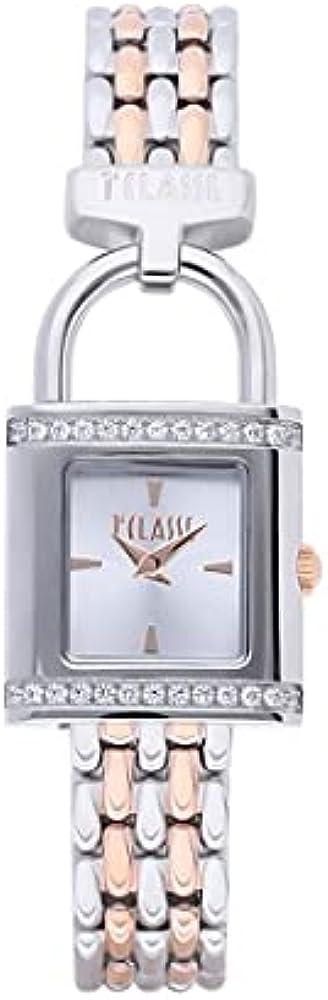 Alviero martini - orologio bali per donna,  in acciaio inossidabile 316l e ghiera impreziosita da cristalli 1671349