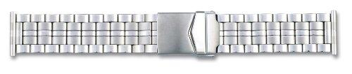 22mm Qualitäts Edelstahl Uhrenarmband Silber inkl. Myledershop Montageanleitung