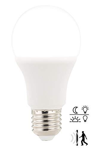 Luminea Bewegungsmelder Birne: E27-LED-Lampe mit Radar-Bewegungs- & Lichtsensor, 12 W, tageslichtweiß (Leuchtmittel mit Bewegungsmelder)