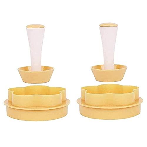 Pasta Dough Tamper Kit Torta Taza Pastelería Pastelería Tamper Pusher Tool Hornear Utensilios de cocina 2pcs, Molde de la cocina