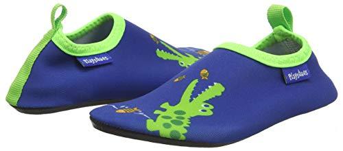 Playshoes Unisex-Kinder Badeslipper, Krokodil, Blau - 7