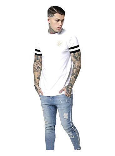 Sik Silk - SS-15198 - Camiseta Hombre Manga Corta (L)