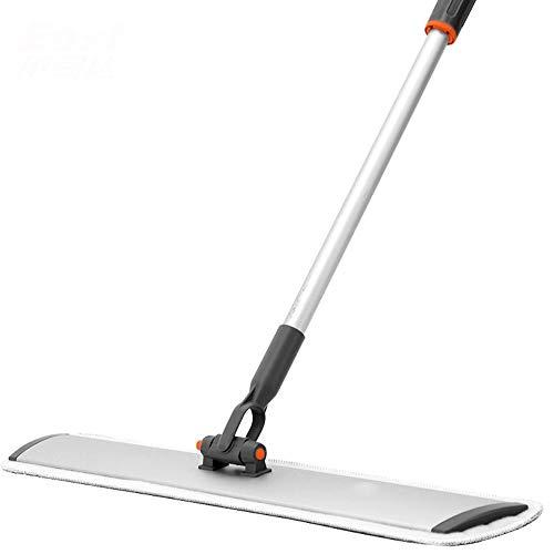 ZSLLO Hand-free 360° roterende dweil kan worden opgehangen aluminium legering ultra-dunne vloer platte dweil huishoudelijke houten vloer tegel glas vloer mop Sponge mop