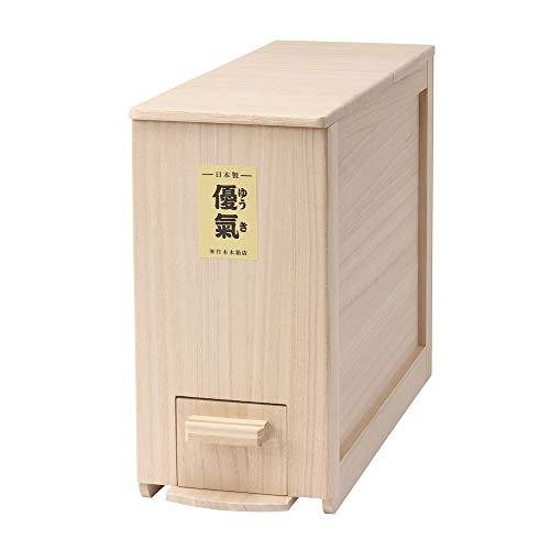 竹本木箱店『総桐計量米びつ「優氣」5kg用』