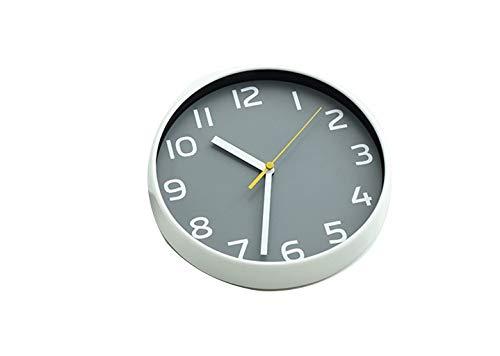 Wohnaccessoires-QFF 8 Zoll Kleine Wanduhr, Schlaf Einfacher Tischuhr Schlafzimmer Dekorative Tischuhr Weiß Grau Silent-Clock Verstellbarer Standfuß Familiennutzung (Color : B, Size : 8 inches)