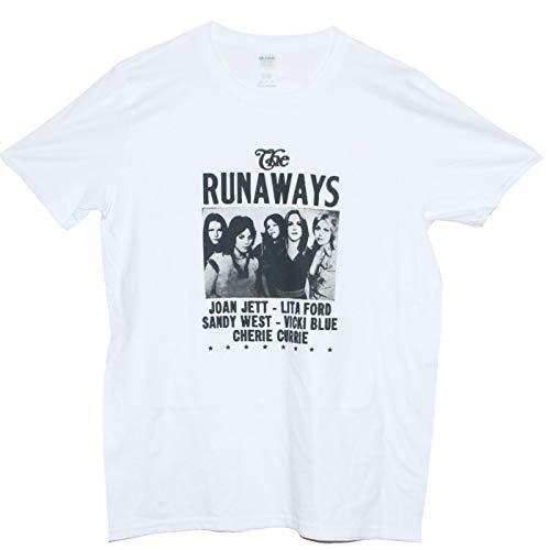 The Runaways T-Shirt Hard Rock Punk Hole L7 Joan Jett Bikini Kill Band Tee Gr. L, weiß