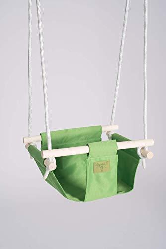 Babyschommelzitje gecertificeerd veilig canvas. Outdoor indoor schommels. Peuterschommelstoel voor binnen en buiten. Waterafstotende stof en sterk touw