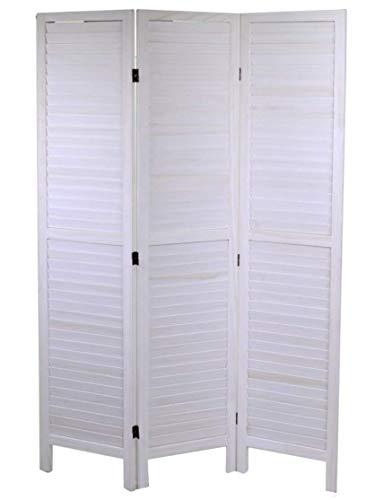 Paravento legno 3 ante bianco 120xh170cm