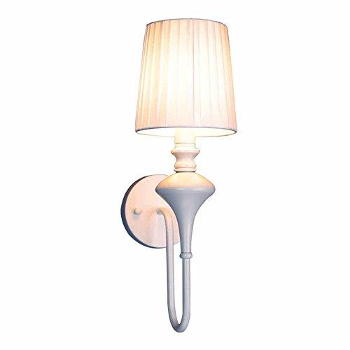 WEXLX Mur de fer minimaliste lampadaires lampe pour chambre à coucher salle de séjour large15CM46cm