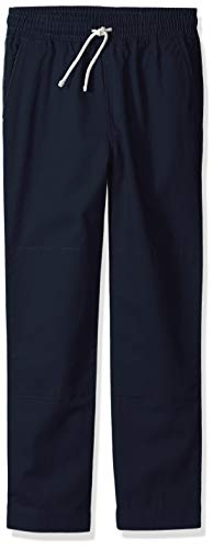 Amazon/ J. Crew Brand- LOOK by Crewcuts Boys' Lightweight Pull on Chino Pant, Navy, Large (10)