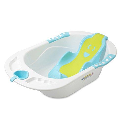 Bébé peut s'asseoir et se coucher dans la baignoire multifonctionnelle portable ménage en plastique 0-6 ans Baignoire bébé Confortable usure/stabilité Portable/matériel sécurité bleu, vert, rose (