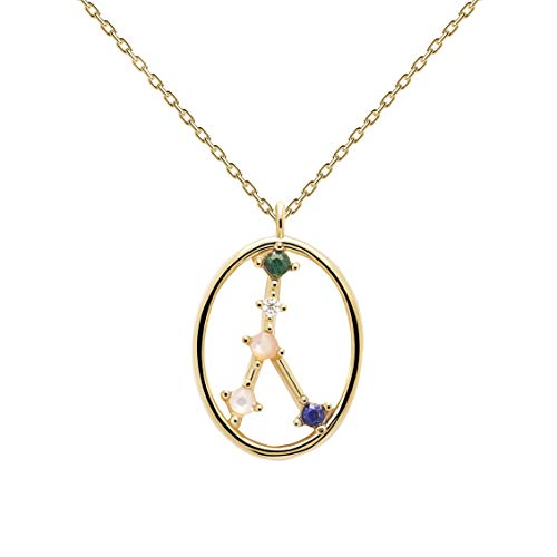 P D Paola Women's Necklace Star Sign Cancer Gold Plated Silver CO01-347-U