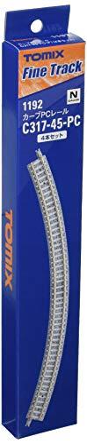 TOMIX Nゲージ カーブPCレール C317-45-PC F 4本セット 1192 鉄道模型用品