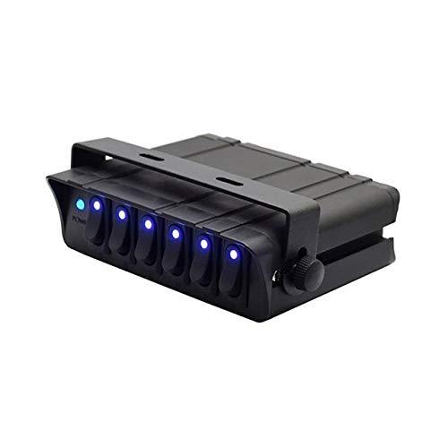 XXYHYQHJD 6-Gang, el Interruptor de Palanca Controlador Caja del Panel for el Carro Campo a través de Barcos RV 12V-24V Interruptor del Panel con indicador de luz LED Azul
