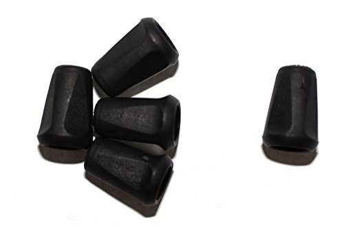 dalipo 33004 - Kordelendstücke, 10 Stück, schwarz
