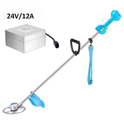 Find Bargain ZXYSR Handheld Weed Eater, Electric Grass Trimmer Powerful Strimmer, with 2Ah Lithium-I...
