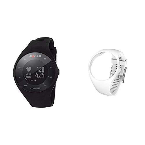 Polar M200 Orologio GPS con Cardiofrequenzimetro Integrato, Monitoraggio Attività Fisica e Sonno, Un + Polar Cinturino di Ricambio M200, Taglia S/M, Bianco