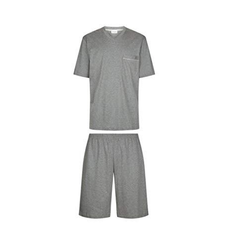 Zimmerli Jersey Pyjama Baumwolle 8500 kurz Schlafanzug Herren (Grey mélange, XXL)