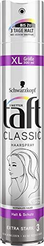 3 Wetter taft Haarspray Classic normales Haar extra starker Halt 3, 6er Pack(6 x 300 ml)