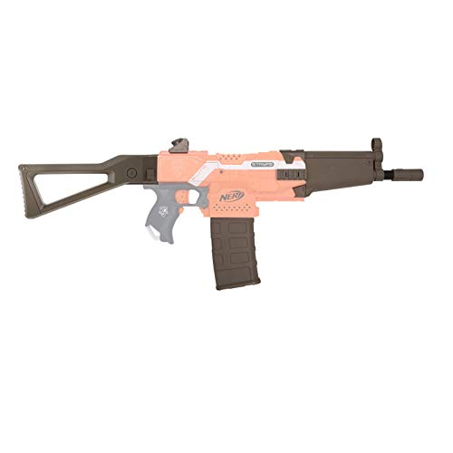 Blasterparts - Mod Upgrade Kit für NERF Stryfe SMG-Kit 1: MP5 – Olive - mit Laufverlängerung, Schulterstütze, 12 Dart Clip Magazin