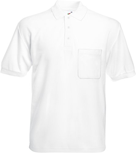 Fruit of the Loom - Polo - - Col polo - Manches courtes Homme - Blanc - Blanc - Xx-large