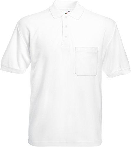 Fruit of the Loom 63–308–0–Poloshirt mit Brusttasche, Weiß XL