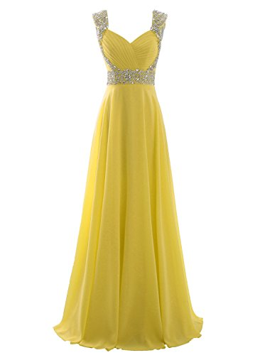 Erosebridal Formal Chiffon Lange Brautjungfernkleider Abendkleid DE 32 Hellblau