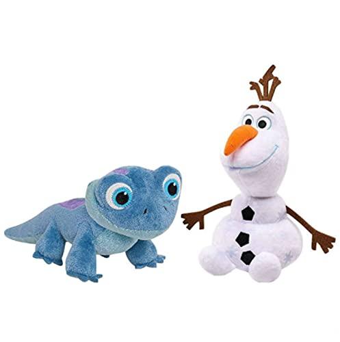 2 Unids / Set Frozen 2 Olaf Lizard Muñeco De Nieve De Peluche Muñeco De Peluche Decoración De Fiesta Figura De Acción Juguete Niños Regalo De Cumpleaños