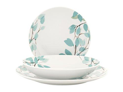 Porcelana Blanco ROYAL NORFOLK ala Servicio Platos Vajilla 12/Piezas