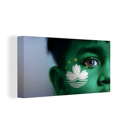 Leinwandbild - Flagge von Macau - 160x80 cm