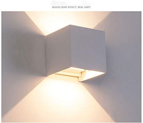 RAQ 12W LED wandlamp Indoor Outdoor met instelbare stralingshoek design kubus LED tuin veranda wandlamp China wit