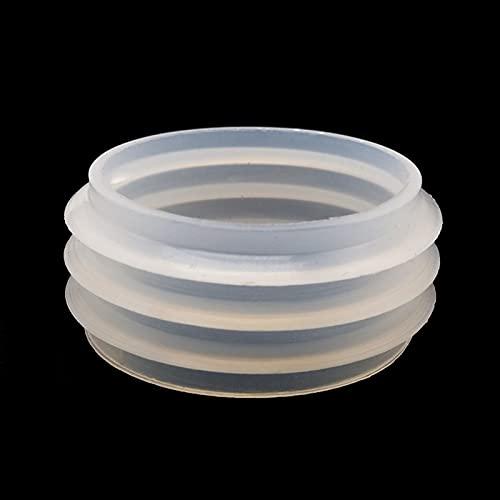 Pang-qingtian 5 unids Sello de Goma Blanco Sello Ajuste para Mya Hookah Shisha Tubería de Agua Sheesha Chicha Narguile Botella de Vidrio Accesorios 43-35 mm (Color : Blanco)