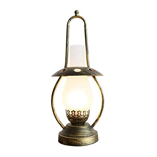 Lámpara de mesa Lámparas de Nightstand E27 retro dormitorio de noche lámpara de mesa Comedor Comedor creativo vieja nostálgica de la lámpara de aceite del caballo de la lámpara lámpara de mesa Tradici